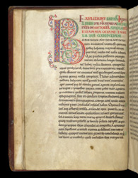 Decorated Heading And Initial, In A Copy Of Bede's History Of The English Church f.4v